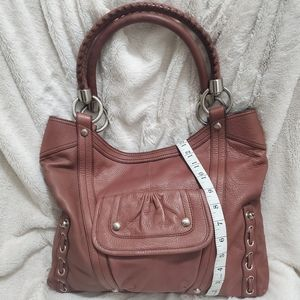 B. MAKOWSKY BROWN LEATHER SATCHEL